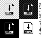 html file document icon.... | Shutterstock .eps vector #1421017208