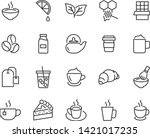 set of coffee line icons  such... | Shutterstock .eps vector #1421017235
