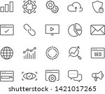 set of seo line icons  such as... | Shutterstock .eps vector #1421017265