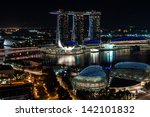 singapore   nov 5   view of the ... | Shutterstock . vector #142101832