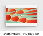 3d abstract background with... | Shutterstock .eps vector #1421027435