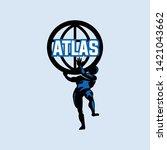 atlas  greek gods with super...   Shutterstock .eps vector #1421043662