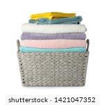 Wicker Laundry Basket With...