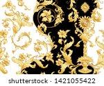seamless pattern  background in ...   Shutterstock .eps vector #1421055422