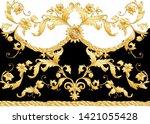 seamless pattern  background in ... | Shutterstock .eps vector #1421055428