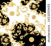 seamless pattern  background in ... | Shutterstock .eps vector #1421055455