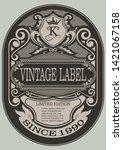 frame border vintage label or... | Shutterstock .eps vector #1421067158