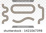 straight tracks art design.... | Shutterstock .eps vector #1421067398
