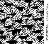brush texture pattern. grunge... | Shutterstock .eps vector #1421077112