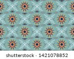 seamless floral pattern....   Shutterstock .eps vector #1421078852