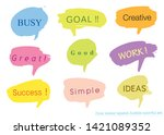 hand drawn set of colorful... | Shutterstock .eps vector #1421089352