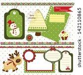 Set Of Christmas Scrapbook...