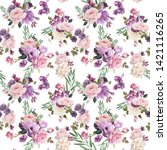 seamless floral pattern with... | Shutterstock . vector #1421116265