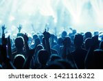 picture of dancing crowd at... | Shutterstock . vector #1421116322