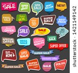 collection of colorful sale... | Shutterstock . vector #1421149142