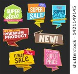 collection of colorful sale... | Shutterstock . vector #1421149145