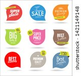 collection of colorful sale... | Shutterstock . vector #1421149148