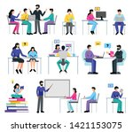 online education set with...   Shutterstock .eps vector #1421153075