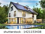 Country House With Solar Panel...