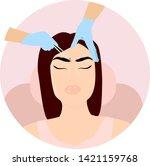 eyebrows cosmetic procedures ... | Shutterstock .eps vector #1421159768