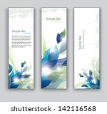 abstract floral banners. set of ... | Shutterstock .eps vector #142116568