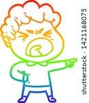 rainbow gradient line drawing... | Shutterstock .eps vector #1421168075