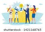flat banner artificial... | Shutterstock .eps vector #1421168765