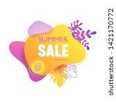 summer sale banner template....   Shutterstock .eps vector #1421170772