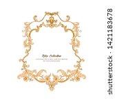 border  frame  label in baroque ...   Shutterstock .eps vector #1421183678