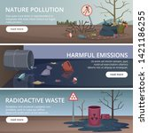 Waste Nature Banners. Toxic...