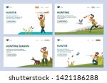hunting web pages. hunter with... | Shutterstock .eps vector #1421186288