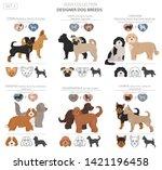designer dogs  crossbreed ... | Shutterstock .eps vector #1421196458