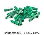 green plastic dowel pin pile... | Shutterstock . vector #142121392