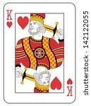 king of hearts. original design. | Shutterstock .eps vector #142122055