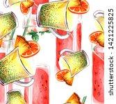 tropical cocktail. cafe menu... | Shutterstock . vector #1421225825