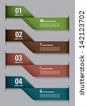 vector numbered banners. modern ... | Shutterstock .eps vector #142123702