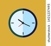 clock icon vector illustration  ... | Shutterstock .eps vector #1421237495