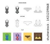 vector design of bikini and...   Shutterstock .eps vector #1421239868