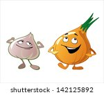 cartoon vegetables with...