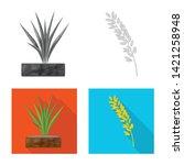 vector illustration of crop and ... | Shutterstock .eps vector #1421258948