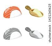 vector illustration of crop and ... | Shutterstock .eps vector #1421260625