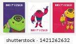 set next generation robot card...   Shutterstock .eps vector #1421262632