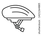 Bike Helmet Icon. Outline Bike...
