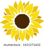 Sunflower Silhouette  Cutting...