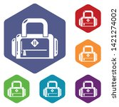 travel bag handle icon. simple...   Shutterstock .eps vector #1421274002