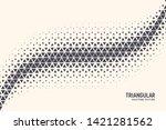 triangular shapes vector... | Shutterstock .eps vector #1421281562