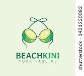 beach bikini lemon bra logo...   Shutterstock .eps vector #1421320082