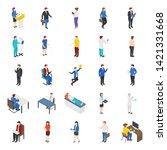 bundle of professional people... | Shutterstock .eps vector #1421331668