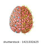creative and logical brain... | Shutterstock .eps vector #1421332625