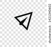 paper plane icon from... | Shutterstock .eps vector #1421340602